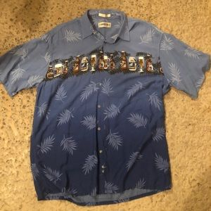 Other - Beer vintage button down Hawaiian vacation shirt